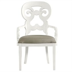 Coastal Living Retreat-Wayfarer Arm Chair in Saltbox White
