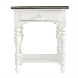 Coastal Living Retreat-Lamp Table in Saltbox White