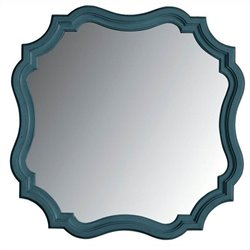 Coastal Living Retreat-Piecrust Mirror in English Blue